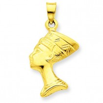 Nefertiti Pendant in 14k Yellow Gold