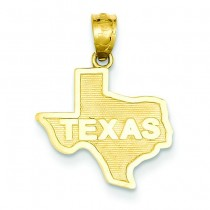 State Of Texas Pendant in 14k Yellow Gold