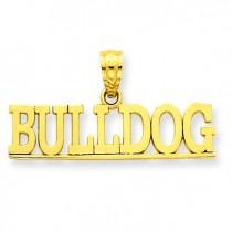 Bulldog Pendant in 14k Yellow Gold