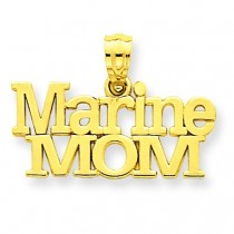 Marine Mom Pendant in 14k Yellow Gold