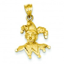 Diamond Cut Clown Charm in 14k Yellow Gold