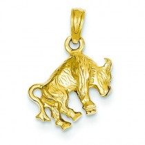 Taurus Zodiac Pendant in 14k Yellow Gold