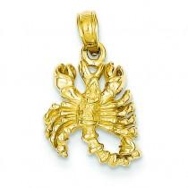 Scorpio Zodiac Pendant in 14k Yellow Gold