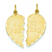 Best Friend Break Apart Charm in 14k Yellow Gold