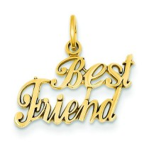 Best Friend Charm in 14k Yellow Gold