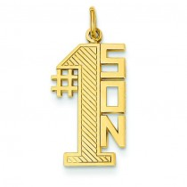 Number One Son Charm in 14k Yellow Gold