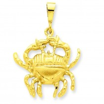 Cancer Zodiac Charm in 14k Yellow Gold