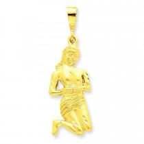 Virgo Zodiac Charm in 14k Yellow Gold