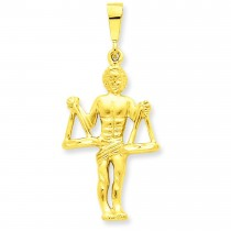 Libra Zodiac Charm in 14k Yellow Gold