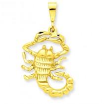 Scorpio Zodiac Charm in 14k Yellow Gold