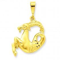 Capricorn Zodiac Charm in 14k Yellow Gold