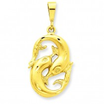 Pisces Zodiac Charm in 14k Yellow Gold