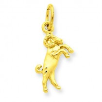 Aries Zodiac Charm in 14k Yellow Gold