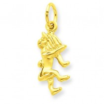 Leo Zodiac Charm in 14k Yellow Gold