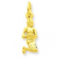 Virgo Zodiac Charm in 14k Yellow Gold
