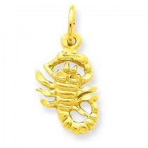 Scorpio Zodiac Charm in 14k Yellow Gold
