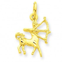 Sagittarius Zodiac Charm in 14k Yellow Gold