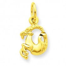 Capricorn Zodiac Charm in 14k Yellow Gold