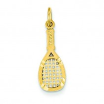 Tennis Racquet Charm in 14k Yellow Gold