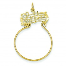 Musical Charm Holder in 14k Yellow Gold