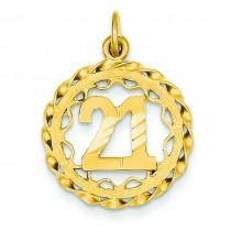 In Circle Pendant in 14k Yellow Gold