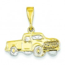 Pick Up Truck Pendant in 14k Yellow Gold