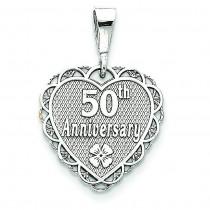 25th Anniversary Pendant in 14k White Gold