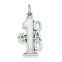 Dad Charm in 14k White Gold