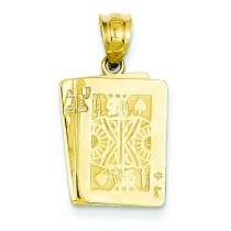 Black Jack Pendant in 14k Yellow Gold