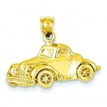 Classic Antique Car Pendant in 14k Yellow Gold