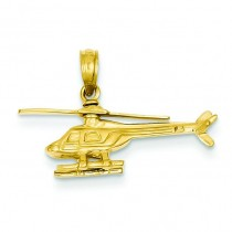 Helicopter Pendant in 14k Yellow Gold