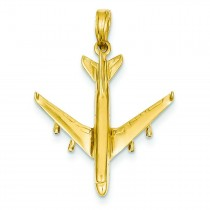 Jet Pendant in 14k Yellow Gold