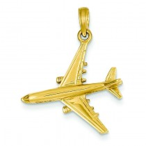 Jet Pendant in 14k Yellow Gold