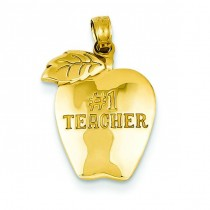 Teacher Apple Pendant in 14k Yellow Gold