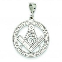 Large Masonic Pendant in 14k White Gold
