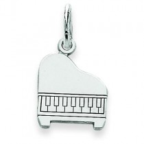 Baby Grand Piano Charm in 14k White Gold