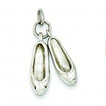 Ballet Slippers Charm in 14k White Gold