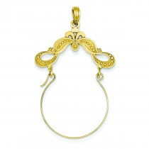 Ribbon Decorated Charm Holder in 14k Yellow Gold