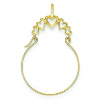 Heart Charm Holder in 14k Yellow Gold