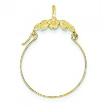 Floral Charm Holder in 14k Yellow Gold
