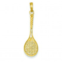 Tennis Racquet Pendant in 14k Yellow Gold