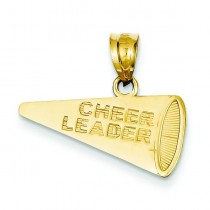 Cheerleader Megaphone Pendant in 14k Yellow Gold