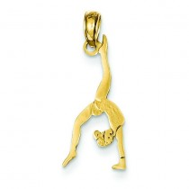 Gymnast Pendant in 14k Yellow Gold