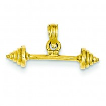 Dumbbell Pendant in 14k Yellow Gold
