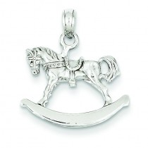 Rocking Horse Pendant in 14k White Gold