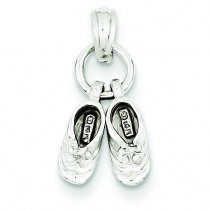 Baby Booties Pendant in 14k White Gold