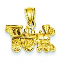 Locomotive Pendant in 14k Yellow Gold