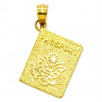 Passport Charm in 14k Yellow Gold