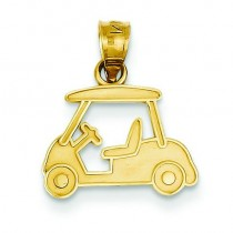 Golf Cart Charm in 14k Yellow Gold