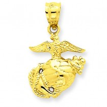Us Marine Corps Pendant in 14k Yellow Gold